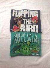 Mens Angry Birds tee shirts (2 Bundle) Black & Green Medium EUC