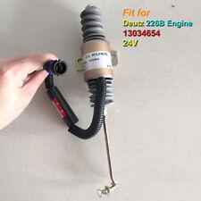 13034654 24 VDC Fuel Shut Off Stop Solenoid Valve Fit for Deutz 226B Engine 24V