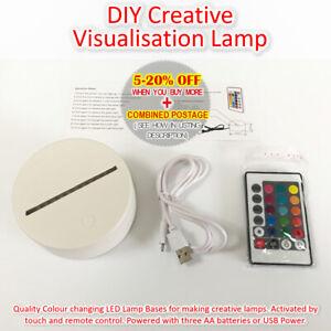 Night Lamp Creative light LED USB Battery Lamp RGB Colour Remote Craft Toy DIY