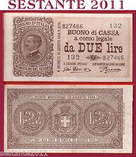 ITALIA,  ITALY,  2 LIRE VITT. EMANUELE III 1921, P. 37c, QSPL+ / AXF+  SERIE 132