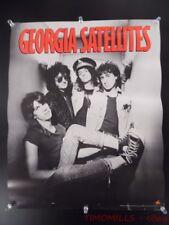 1986 Georgia Satellites 1st Album Elektra Record Store Promo Poster Vintage VG