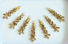 7 Gold Long Face Bindis Tattoos/Indian Crystal Festival Gems Jewels Stickers