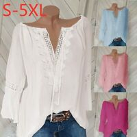 Women 4-18 Boho Hippie Peasant Tunic Blouse Shirt Top Lace Off shldr? Pullover