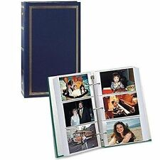"Durable Leatherette Cover 3 Ring Bind Photo Album Pockets Hold 504 Photos 4""x6"""
