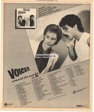 1980 HALL & OATES Voices Vtg Album Promo Print Ad with concert tour dates