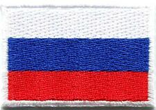 Flag of Russia Russian Soviet embroidered applique iron-on patch Medium S-114