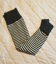 Lululemon Chalet Keep Your Legs Cozy Polar Cream/Deep Coal Striped Legwarmers