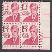 US. 1288. 15c. Holmes, Prominent Americans. PB4 #38960 LL. MNH. 1968