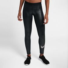 Nike Pro Sparkle Women's Training Tights Metallic XS Black Silver Casual Gym New