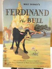 "Vintage book  ""Ferdinand the Bull"" 1936 linen like publication"