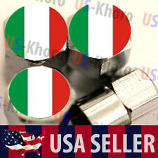 Italy Flag Logo Valves Stems Caps Covers Chromed Wheel Roundel Tire Emblem USA