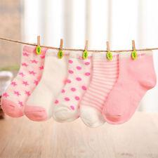 5 Pairs Baby Boy Girl Cartoon Socks NewBorn Infant Toddler Kids Soft Sock New