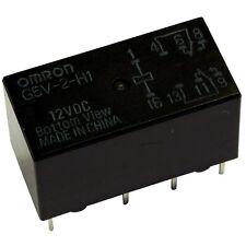 OMRON G5V-2-H1-12 Relais 12V DC 2xUM 2A 960R PCB Signal Relay 854990