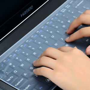 """10""""/14""""/17"""" Transparent Laptop Keyboard Skin Protector Cover Film Silicone zj"""
