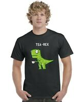 Tea Rex Funny Dinosaur Drinking Tea Adults T-Shirt Tee Top Sizes S-XXL