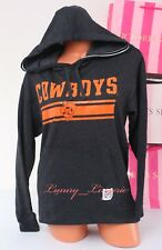 PINK VS Collegiate Collection Cowboys OSU Hooded Sport Sweat Jacket XS Dark Gray
