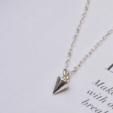 Sterling Silver Stud Spike Charm Necklace Pendant - 925 Layering Jewellery UK