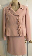 Tahari Arthur S. Levine Women's Pink 2 Piece Skirt Suit Size 8 Petite