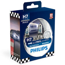 Philips Racing visión racingvision +150% H7 Headlight Bulbs (twin) 12972RVS2
