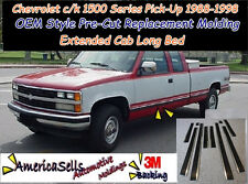 88-99 CHEVROLET CHEVY GMC C/K PICKUP TRUCK CHROME BLACK BODY SIDE MOLDING CUSTOM