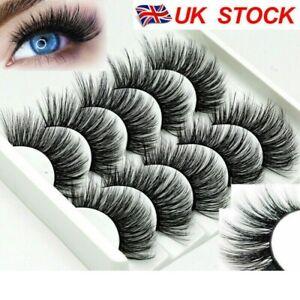 5 Pair 3D Mink Lashes Bulk Faux Thick Natural Eyelashes Full Strip False Eyelash