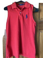 Ralph Lauren Polo Sport Sleeveless 100% Cotton Polo Shirt Medium