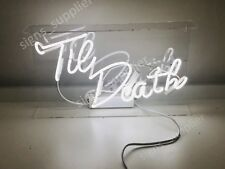 New Til Death Decor Artwork Real Glass Neon Light Sign 15""