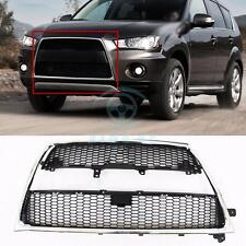 3pcs Chrome Front Bumper Grille Molding Trim For Mitsubishi Outlander XL 2010-12
