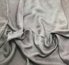 Silk/Cotton SATIN SATEEN Fabric Hand Dyed PEARL GRAY 1/3 Yard remnant