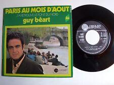 """GUY BEART : Paris au mois d'aout / Le pont du Nord 7"""" 45T 1970 TEMPOREL GB 70003"""