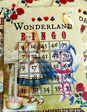 6 Alice In Wonderland Bingo Cards - For Party Games or Table Decorations