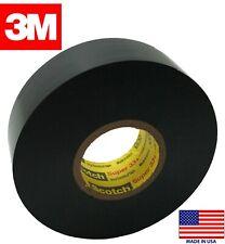 "(2) Rolls 3M Scotch 06133 Super 33+ Vinyl Black Electrical Tape 3/4"" x 52 FT"