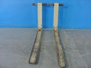 "Shaft Mount Forklift Forks - 1.75""X4""X48"" Std Taper Shaft Type INSET TUBE 5k"
