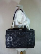 NWT Tory Burch Black Fleming Open Shoulder Tote $550