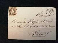 Schweiz - Brief Stück Stempel 1864 Verrieres Sitzende Helvetia  5 C   Nr.16