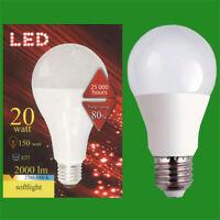 1x 20W (=150W) LED A80 GLS ES E27 3000K Warm White Light Bulb Lamp 2000lm