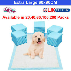 EXTRA LARGE HEAVY DUTY DOG PUPPY TRAINING WEE PADS FLOOR TOILET MATS 60 x 90cm