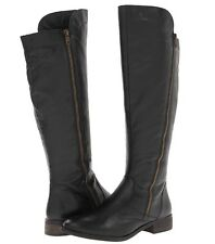 NEW STEVE MADDEN $149 BLACK LEATHER SHAWNY KNEE HIGH RIDING BOOTS SZ 11