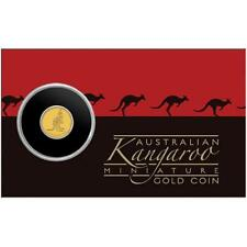 AUSTRALIA 2015 $2 ORO KANGAROO MINIATURE GOLD COIN IN CAPSULA COINCARD