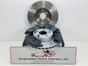 Mercedes CLS Class (218) 11-17 Front Brake DRILLED Disc and Pads *BRAND NEW OEM*