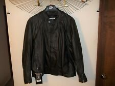 New River Road Leather Mortar Motorcycle Jacket W/Removable Sleeves Vest 50/52