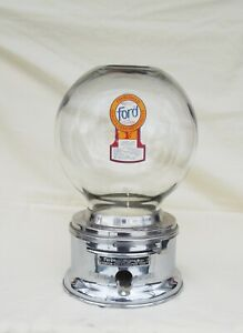 Penny  FORD Counter Top Glass Globe Chicklet Vending Machine