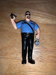 "VERY RARE THE BIG BOSSMAN MINI 3.5"" RUBBER FIGURE 1990 APPLAUSE LJN WWF WWE WCW"