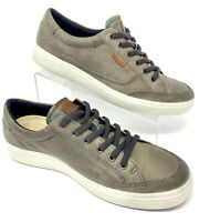 Ecco Danish Design Men's Size EU 44 US 10 Mocha Leather Sneakers Lace Up EUC