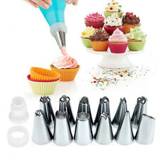 14 Pcs/Set Pastry Bag Nozzle Silicone Piping Cream DIY Cake Decorating Tools