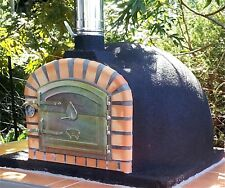 Wood fired gourmet pizza oven completely finished and ready to use