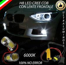 COPPIA LAMPADE FENDINEBBIA H8 LED CREE COB CANBUS BMW SERIE 1 F20 NO ERRORE