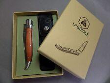 LAGUIOLE Traditionsmesser Taschenmesser - in Lederetui - Neu & ovp - 268001