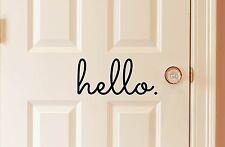 Hello in Matte Black Vinyl 9x4 Decal door house decorative home welcome