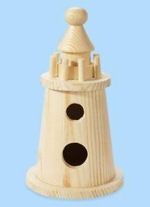 HobbyFun Holz-Rohling Leuchtturm 7,5 x 15 cm 3270144, Geldgeschenke basteln